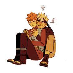 Gaara and Naruto saishoguu Naruto Gaara, Naruto Cute, Shikamaru, Naruto Shippuden Anime, Kakashi, Anime Naruto, Sasunaru, Naruhina, Boruto