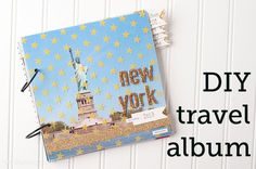 DIY Photo Album, A tutorial for an easy travel scrapbook; could make a grandkid album for Grandma! Diy Travel Album, Travel Photo Album, Travel Photos, Photo Album Scrapbooking, Scrapbook Albums, Album Photo Voyage, Make A Photo Book, Goals Tumblr, Vacation Scrapbook