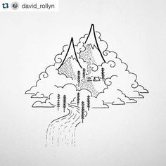 I adore everything @david_rollyn creates. I use his simple images to lead my fourth graders in directed drawing lessons. They always feel successful and leave my room with a beautiful work of art bits amazing what a little vision and a black pen can creat