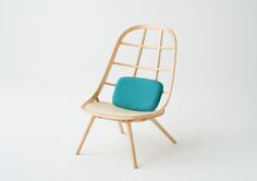 Nadia - Japanese furniture series by Jin Kuramoto - Japanese Design Design Furniture, Wooden Furniture, Chair Design, Home Furniture, Japan Design, Stockholm Design, Lounge Chair, Low Chair, Dining Chair