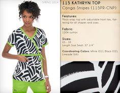115 KATHRYN TOP | 115PR-CNP (Conga Stripes)