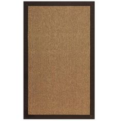 Cedar creek 3 piece espresso area rug set products for Faux sisal rugs home depot