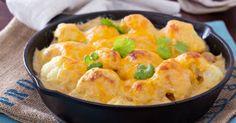 Recette de Gratin léger de chou-fleur aux crevettes. Facile et rapide à réaliser, goûteuse et diététique. Ingrédients, préparation et recettes associées.