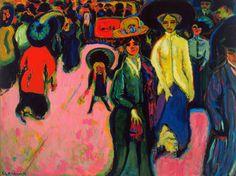 Ernst Ludwig Kirchner - Street Dresden (1908)