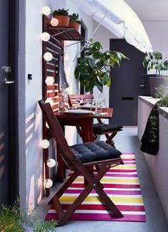 Balcony furniture from ikea