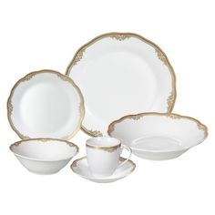 Whether you're enjoying a four-course meal with friends or a peaceful early-morning breakfast, this porcelain dinnerware set adds a touch of style to your ta...