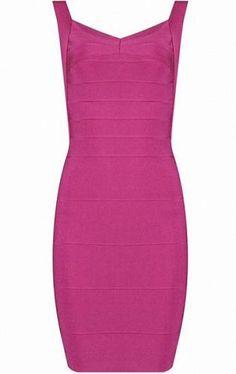 Abigail Pink Mini Bandage Dress