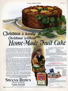 "Christmas Fruit Cake Recipe from ""The Ladies' Home Journal"" 