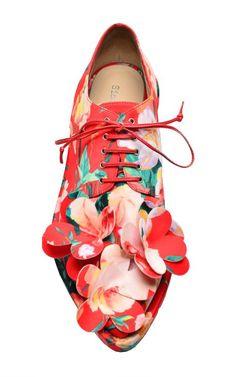 Mad Flower Embellished Brogue by Simone Rocha for Preorder on Moda Operandi