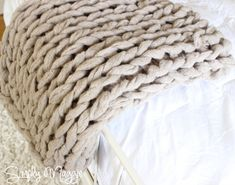 Arm knitted blanket!