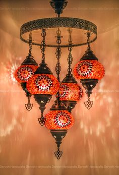 Turkish Lamp - Floor Lamp - Ceiling Lamps - Table Lamps by DervishHandicrafts Ceiling Lamp, Ceiling Lights, Morrocan Decor, Classic House Design, Turkish Lamps, Colourful Living Room, Unique Lamps, Floor Lamp, Mosaic