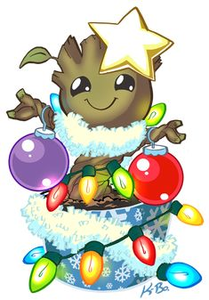 Oh Christmas Groot, oh Christmas Groot, how lovely are thy dances.  art kevinbolk