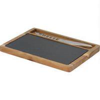 Tapa Slate-Acacia Cheese Board with Knife