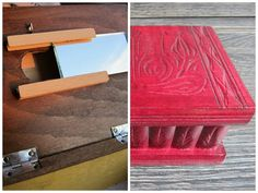 2x East European Puzzle-jewelry Wood Box Case W Secret Compartment Wholesale Lot