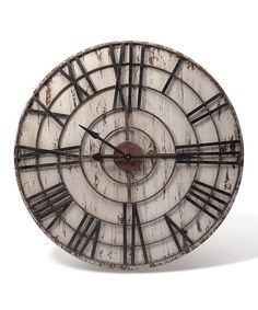 Distressed Tick-Tock Wall Clock by Foreside
