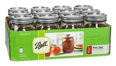 Shop for mason jars at Bed Bath & Beyond. Buy top selling products like Ball® Regular Mouth Glass Canning Jars and Square Monogram Glass Mason Jar. Shop now! Pint Mason Jars, Ball Mason Jars, Pint Jar, Pot Mason Diy, Mason Jar Crafts, Snow Globe Mason Jar, Ball Canning Jars, The Fresh, Preserves