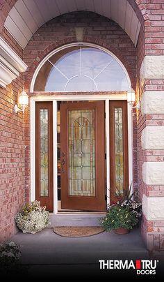 ThermaTru ClassicCraft Mahogany Collection fiberglass door with