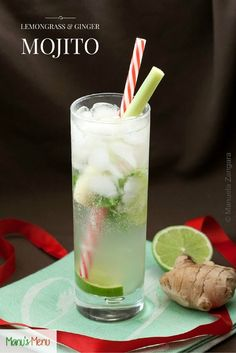 Lemongrass+and+Ginger+Mojito+-+delicious+and+very+refreshing,+perfect+for+any+party.