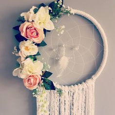 Wedding dreamcatcher pink dreamcatcher wedding decor unique