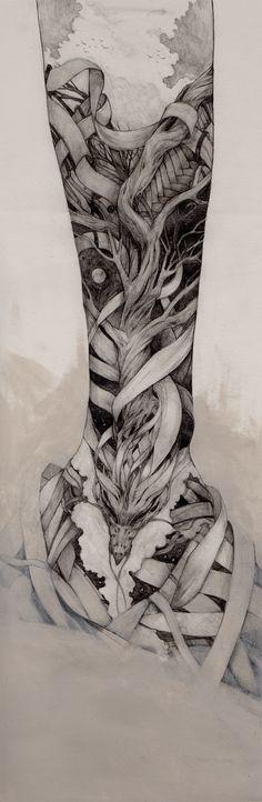 http://www.behance.net/gallery/Pencil-Tattoo-1/1970275