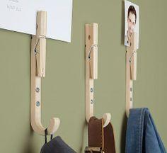 multifunctioneel: kapstok en papierklem kleuters, met foto