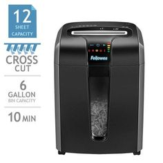 Fellowes® Powershred® Jam Proof Cross-Cut Shredder Shreds: Paper, CD/DVD, Credit Cards, Staples and Paper Clips Durham Region, Costco, Credit Cards, School, Paper