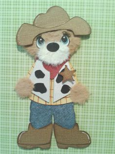COWBOY COWGIRL WESTERN  KIDS CUSTOM MADE TEAR BEAR SPRING SUMMER * KIRA* AP4P
