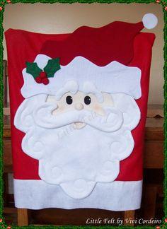 Christmas seat back. Christmas Chair Covers, Christmas Cover, Christmas Sewing, Christmas Wood, Christmas Goodies, Christmas Projects, Family Christmas, All Things Christmas, Christmas Holidays