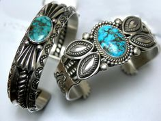 https://flic.kr/p/92VvCS | Perry Shorty | A Morenci & Fox Turquoise cuff by Navajo silversmith Perry Shorty.
