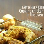 Easy dinner recipe: Cooking chicken legs in the oven