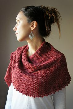 ravelry : chale rouge