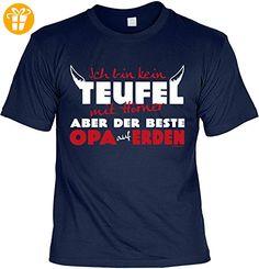 Opa Sprüche Tshirt - cooles für Großvater : ... kein Teufel ... beste Opa auf Erden -- Geschenk T-Shirt Opa Vatertag Geburtstag Gr: M (*Partner-Link)