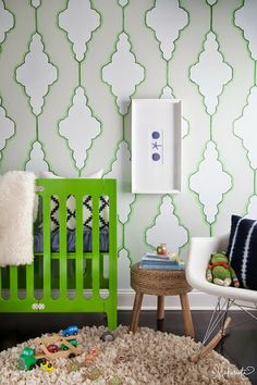 The Makerista: Stenciled Wall Template and Tutorial
