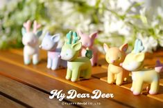 My Dear Deer blind box series by Fluffy House By Your Side, Designer Toys, Besties, Blinds, Deer, Place Card Holders, Entertainment, Joy, Mini