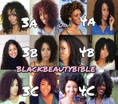 4 Bhair Texture Chart Natural Hair Types Styles For Black