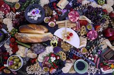 Summer cheese board ultimate platter. Magical party food, edible flowers. Taken from Your Platter Matters on Facebook