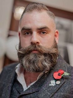 Epic beards and lush-staches. Beards And Mustaches, Grey Beards, Long Beards, Moustaches, Scruffy Men, Hairy Men, Bearded Men, Walrus Mustache, Beard No Mustache