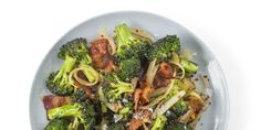 Broccoli with Bacon and Onion