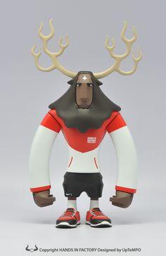 Toys de vinil de los Running Horns de UpTempo | Len & Pix