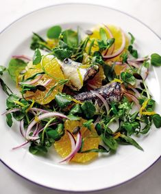 Orange and Sardine Salad - get recipe here: http://www.dailymail.co.uk/health/article-3812769/Eat-beat-diabetes-enjoy-takeaway-treats-opt-super-salad-up.html