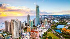 Vídeo de Lapso de tiempo de Costa De oro, un Destino Popular Turístico en Queensland, Australia