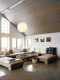 Onze passie is houten vloeren, maar dit is ook mooi.    houten plafond
