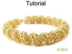Cellini Spiral Tubular Peyote Beaded Necklace Bracelet Beading Pattern Tutorial
