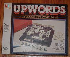 Milton Bradley 1983 vtg UPWORDS board GAME 3 D dimensional up word game complete Funny Games For Groups, Games For Girls, Vintage Board Games, Fun Board Games, Childhood Toys, Childhood Memories, School Wide Themes, Board Game Organization, Parody Videos