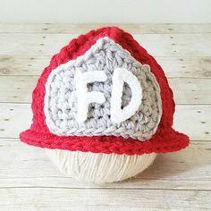 4b72651624a Crochet Baby Fireman Firefighter Hat Helmet Beanie Infant Baby Toddler  Child Newborn Photography Photo Prop Shower