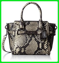 COACH Women's Stamped Snakeskin Coach Swagger 21 DK/Natural Satchel - Top handle bags (*Amazon Partner-Link)