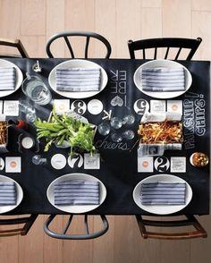Blackboard dining table