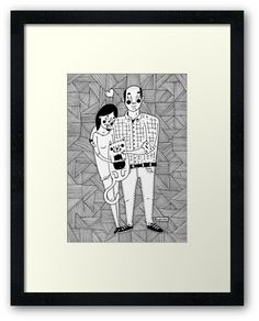 A lovely family by Adrian Serghie Framed Prints