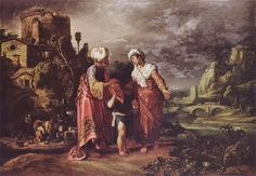 Abraham Casting Out Hagar and Ishmael. Pieter Lastman ca. 1583 – 1633