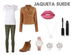 """Jaqueta Suede"" by willi-pinheiro on Polyvore featuring moda, rag & bone/JEAN, T By Alexander Wang, Oasis, Larsson & Jennings, River Island, Michael Kors, Lime Crime e Chanel"